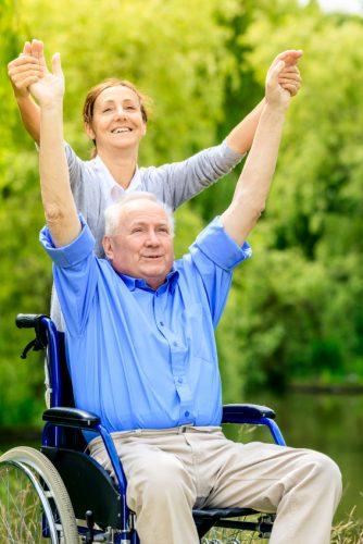 wheelchair hands up